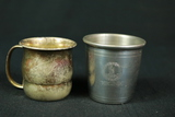 Sterling Silver Child's Cup & Pewter Child's Cup
