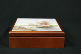 Wood Box With Hand Painted Tile Top