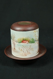 Signed Hand Painted Candle Holder