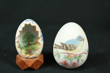 2 Signed Hand Painted Eggs