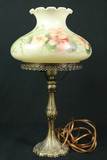 Signed Painted Hurrican Lamp