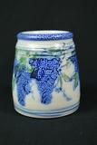 Signed Wheaton Village Salt Glaze Pottery Vase