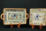 Dario Farucci Hand Painted Plate & Tray