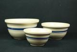3 Roseville Mixing Bowls