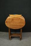 4 Oak Oval Tray Tables