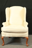 White Wing Back Chair