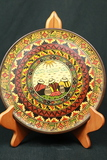 8 Wooden Painted Plates