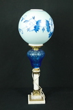 Hurricane Lamp With Marble Base