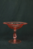 Depression Era Etched Glass Footed Bowl