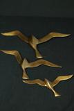 3 Brass Bird Wall Hangings