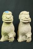 2 Concrete Foo Dogs