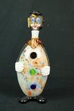 Hand Blown Art Glass Clown Decanter
