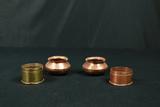 3 Copper Bowls, 1 Brass