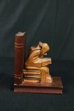Wood Carved Book End