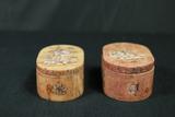 2 Inlay Stone Trinket Boxes