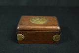 Oriental Wooden Box With Brass Designs