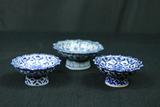 3 Porcelain Graduated Bowls