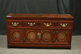Antique 4 Drawer Oriental Chest With Mother Of Pearl Inlay