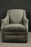 Grey Swivel Arm Chair