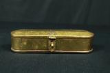 Brass Oval Box With Lock