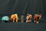 4 Animal Figurines