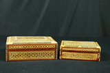 2 Wooden Inlay Boxes