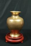 Brass Vase On Stand