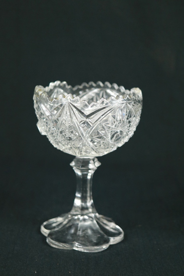 Footed Pressed Glass Bowl