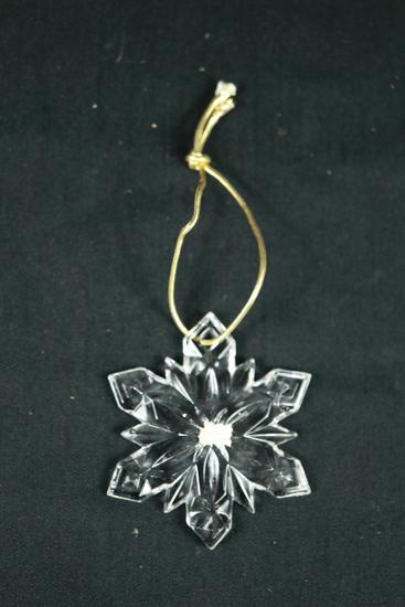 Mikasa Glass Christmas Ornament