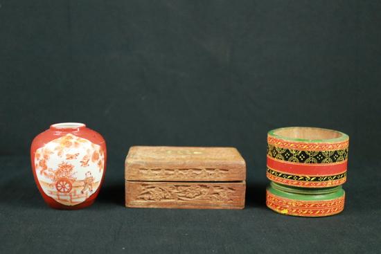 Ginger Jar, Trinket Box, & Pestle