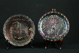 2 Fenton Carnival Glass Plates