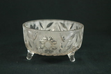 Crystal Etched Footed Bowl