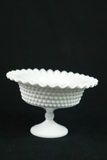 Fenton Hobnail Ruffled Edge Footed Bowl