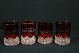 4 Ruby Glass Glasses