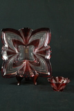 Ruby Glass Bowl & Plate