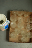 Box Of Etched Glass Stemware & Vase