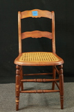 Maple Cane Bottom Victorian Chair