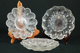 3 Glass Egg Trays