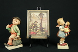 Hummel Picture, Hummel Boy Figurine, Hummel Girl With Doll