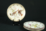 4 Bird Plates With Gold Trim