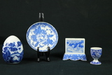 3 Pcs. Of Asian Blue Ware