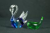 Glass Whale & Swan