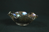 Carnival Glass Fluted Bowl