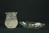 Glass Vase & Oval Bowl