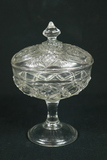 Pressed Glass Covered Candy Dish