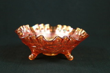 CarnivalGlass Footed Bowl