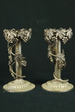 Pair Of Studio Silversmith Silver Plated Candle Stick Holders