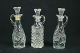 3 Pressed Glass Cruets