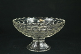 Round Footed Pressed Glass Bowl