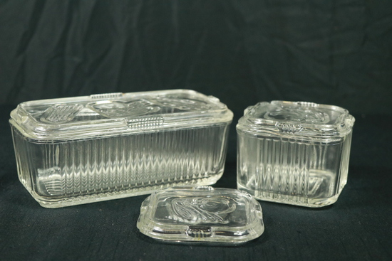 2 Glass Refrigerator Boxes